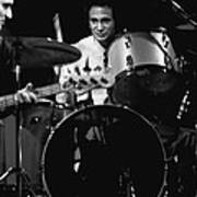 Denny Carmasi On The Drums In 1978 Art Print