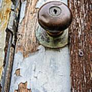 Dented Doorknob Art Print by Caitlyn  Grasso