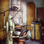 Dentist - Dental Office Circa 1940's Art Print