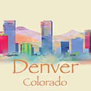 Denver Colorado Skyline II Art Print