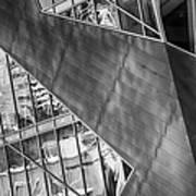 Denver Diagonals Bw Art Print