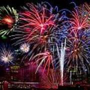 Denver Fireworks Finale Art Print