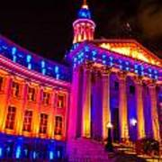 Denver Orange And Blue Pride Art Print