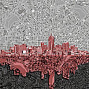 Denver Skyline Abstract 2 Art Print