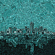 Denver Skyline Abstract 5 Art Print