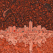 Denver Skyline Abstract 6 Art Print