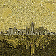 Denver Skyline Abstract 8 Art Print
