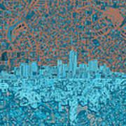 Denver Skyline Abstract Art Print