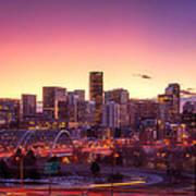 Denver Sunrise Art Print