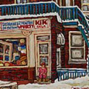 Depanneur Kik Cola Montreal Art Print