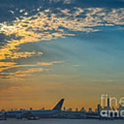 Departing From Ewr  Art Print