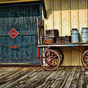 Depot Wagon Print by Kenny Francis