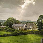 Derbyshire Cottages Art Print by Amanda Elwell