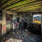 Derelict Cottage Art Print by Adrian Evans