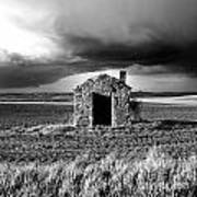 Derelict Stone Shed In  Auvergne. France Art Print by Bernard Jaubert