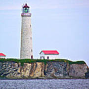 Des-rosiers Lighthouse Is Canada's Tallest In Forillon Np-qc Art Print