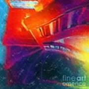 Descending The Stardust Stairway Art Print