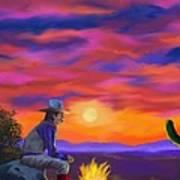Desert Camp Art Print