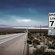 Desert Highway Road Sign Art Print