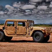 Desert Humvee Art Print