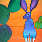 Desert Jackrabbit Art Print