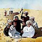 Desert Kids Art Print by Peter Waters
