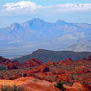 Desert Mountain Vista Art Print