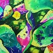 Desert Poppy Among The Cactus Art Print