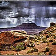 Desert Rain Art Print by David Neely