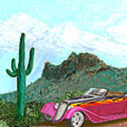 Desert Roadster 34 Ford Art Print