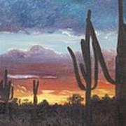 Desert Silhouette Art Print