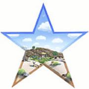 Desert Star Art Print