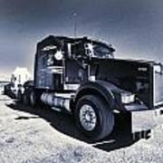 Desert Trucking  Art Print
