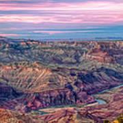 Desert View Sunset Art Print