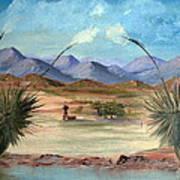 Desert Water Tank Art Print