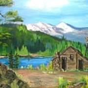 Deserted Cabin Art Print