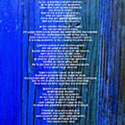 Desiderata On Blue Art Print
