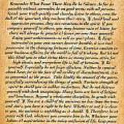 Desiderata Poster On Antique Embossed Wood Paper Art Print