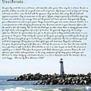 Desiderata Santa Cruz Lighthouse Art Print