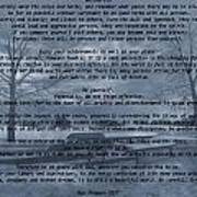 Desiderata Winter Scene Art Print
