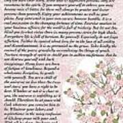 Desiderta Poem On Cherry Blossom Art Print