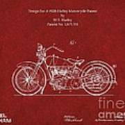 Original Design For A 1928 Harley Motorcycle Art Print