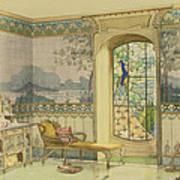 Design For A Bathroom, From Interieurs Art Print