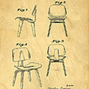 Designs For A Eames Chair Art Print