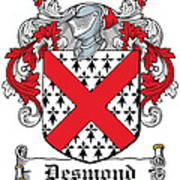 Desmond Coat Of Arms Irish Art Print