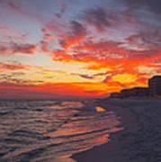 Destin Sunset Art Print by Kay Pickens