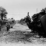 Destroyed U.s. Tank At La Art Print
