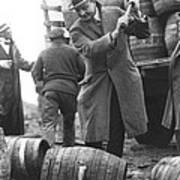 Destroying Barrels Of Beer Art Print