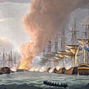 Destruction Of The Danish Fleet Art Print