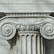 Detail an ionic column Art Print